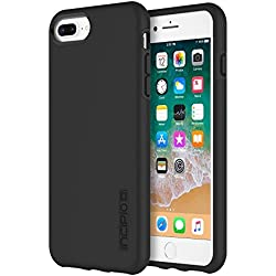 iPhone 8 Plus Case, iPhone 7 Plus Case, Incipio Premium DualPro Shockproof Hard Shell Hybrid Rugged Dual Layer Protective Outer Shell Shock and Impact Absorption Cover (5.5 Inch) - Black/Black