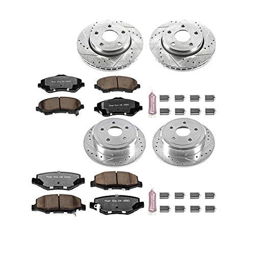 (Power Stop K2798-36 Z36 Truck & Tow Front and Rear Brake Kit)