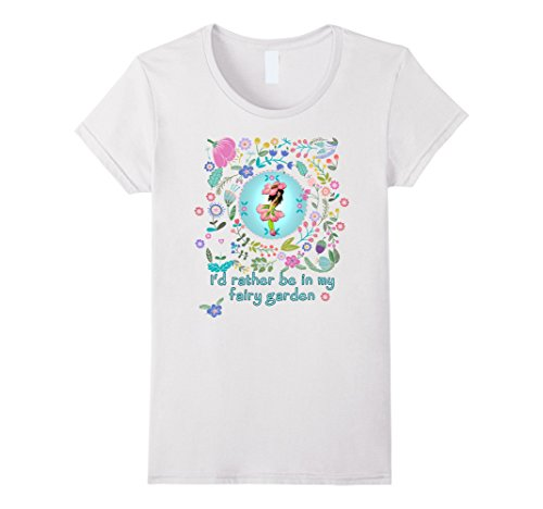 Women's Rather Be In My Fairy Garden Tee by Scarebaby XL ...