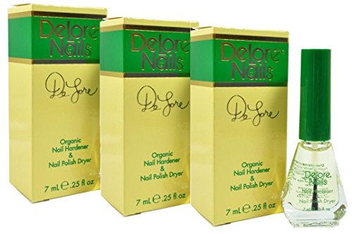 3 X Delore Organic Nail Harderen & Dryer unique formula consisting soley of organic oils that condition your nails : 0.25 fl oz