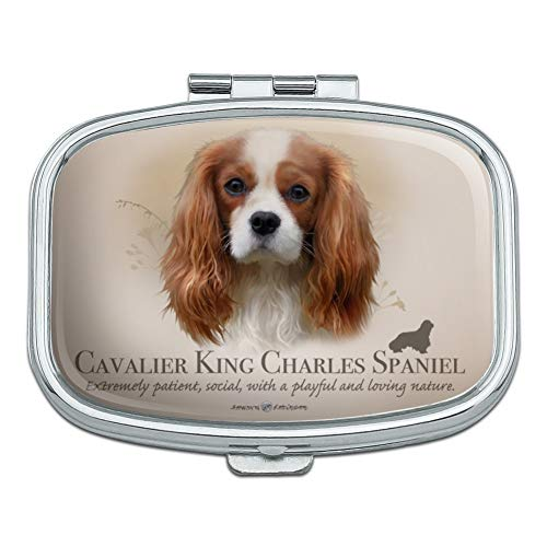 (Cavalier King Charles Spaniel Dog Breed Rectangle Pill Case Trinket Gift Box)