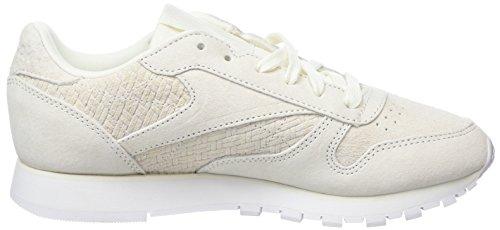 Beige Mujer Reebok Woven Emb Classic chalk white Zapatillas Para 000 Leather HFOA0w