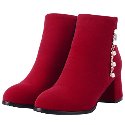 AIYOUMEI Women's Classic Boot Red 8Xr7d