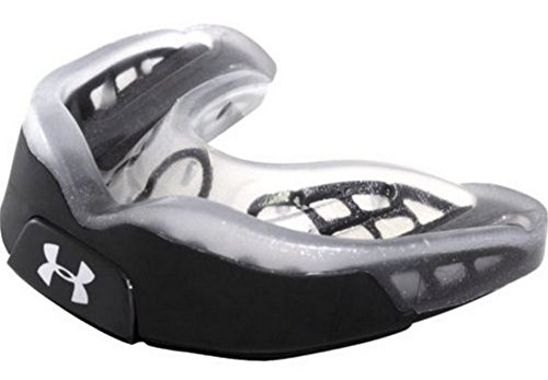 Under Armour ArmourBite Antimicrobial Mouthguard R-1-1050 Adult (Black/Silver-A) ()