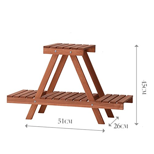 JHZWHJ Wooden Flower Rack Indoor Plant Stand Wooden Plant Flower Display Stand Wood Pot Shelf Storage Rack Outdoor (Size : A) Review