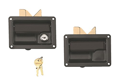 Lund 5218 Black Finish Stainless Steel Locking and Non-Locking Paddle Handle Latch for Truck Tool Box, (Pack of 2) ()