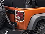 Redrock 4x4 Wrap Around Tail Light Guard - Stainless Steel - for Jeep Wrangler JK 2007-2018