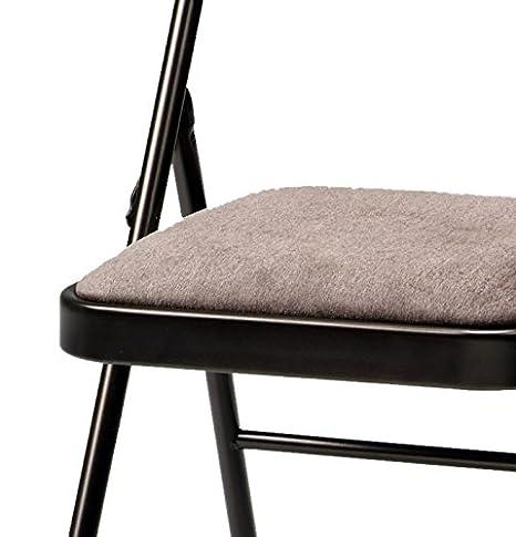 MECO - Juego de 4 sillas Plegables Acolchadas de Tela ...