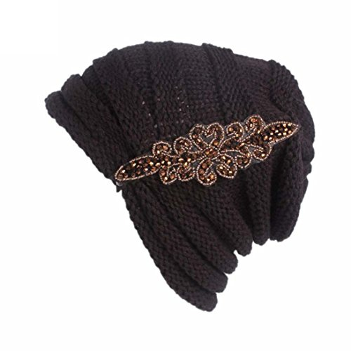 gbsell-women-trendy-warm-chunky-applique-cable-knit-beanie-skully-sport-black