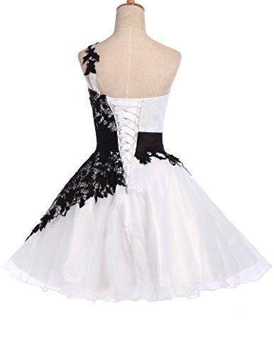 Quissmoda vestido corto largo fiesta, noche, gala, talla 48, color blanco: Amazon.es: Ropa y accesorios