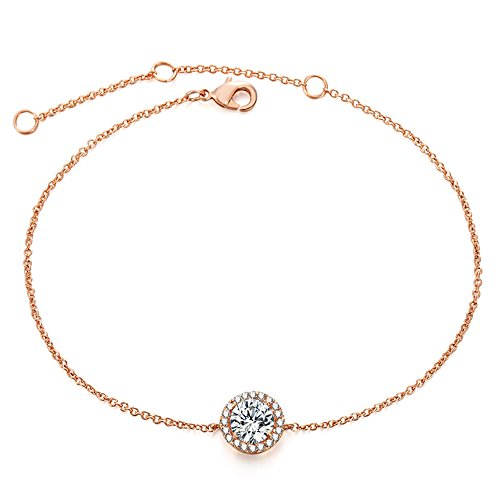 "ASHMITA Fashion Rose Gold Adjustable Bracelet Women Girl Zircon Minimalist Jewelry 6.5""+1"" by ASHMITA"