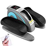 Fast88 Electric Elliptical Machine Trainer,Desk Elliptical with Built in Display Monitor, Quiet & Compact
