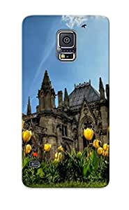 Meadow Fashionable Style Case Cover Skin Castle Series For Galaxy S5- Yellow Tulips