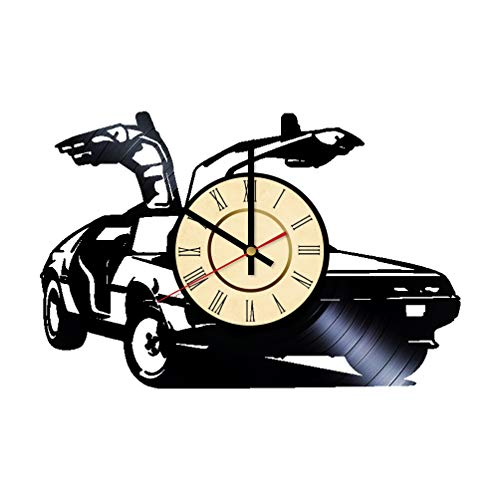 - Car Design Vinyl Clock Gift for Back to the Future Fans Wall Decor DMC DeLorean Wall Art Living Room Artwork