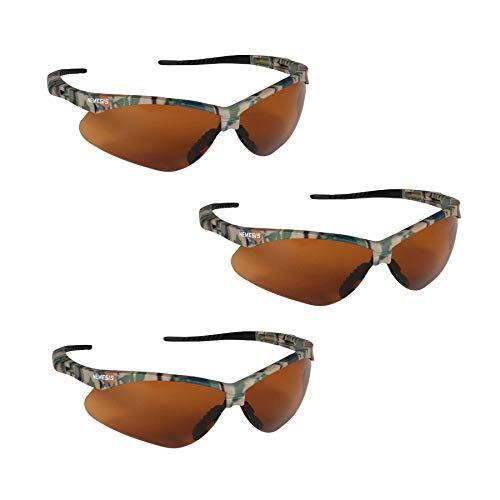 - Jackson Safety V30 19644 Nemesis Safety Glasses (3 Pair) (Camo Frame with Bronze Lens)