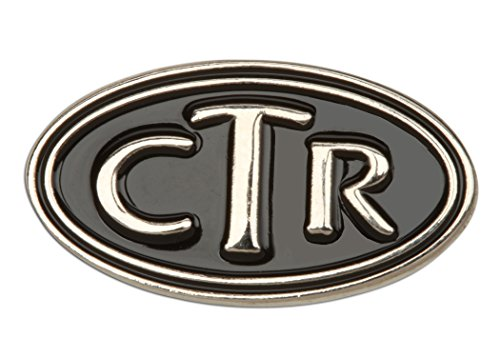 Cherished Moments LDS CTR Oval Tie Tac (Silver Tone)