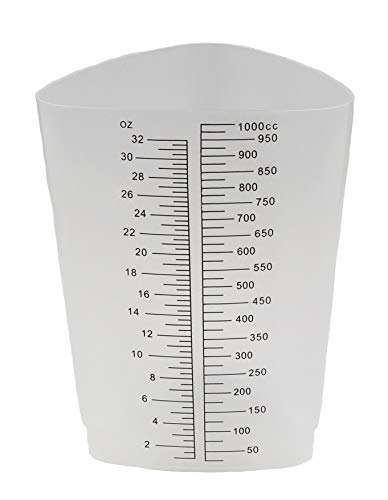 Graduated Triangular Polypropylene Laboratory Container 32oz/1000cc - Pack of 10 by Healthstar (Image #6)