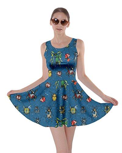 Xs Libellula Ape Donne Vestito Blu Acquerello 5xl Reale Cowcow Farfalle Coleotteri Insetto A Insetti Farfalla Pieghe q7Ucf8wB