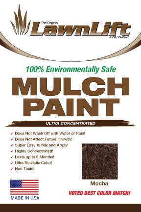 Lawnlift Ultra Concentrated (Mocha) Mulch Paint 8oz. = 2.5 Quarts of Product. by Lawnlift Grass and Mulch Paints