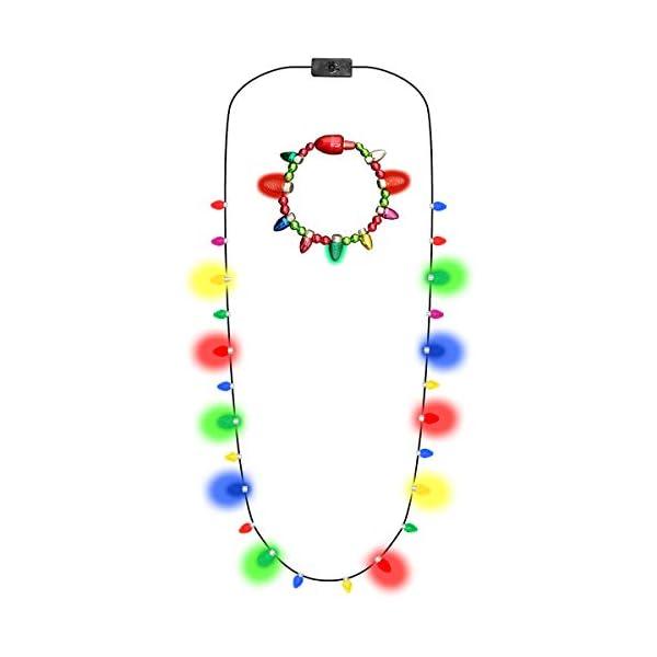 Glowmaker Set Of Light Up Led Christmas Holiday Mini Bulb Necklace Light Up Led Christmas Holiday Mini Bulb Bracelet Blinkee Com
