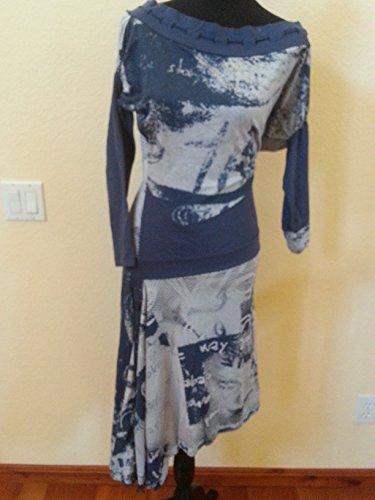 Sexy Asymmetrical Denim Designers Dress ()