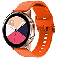Lyperkin Compatible con Galaxy Watch Active Bands 20mm, Moda Suave Pulsera de Silicona Reemplazo Accesorio Correas Correa de Reloj para Galaxy Watch Active S-09