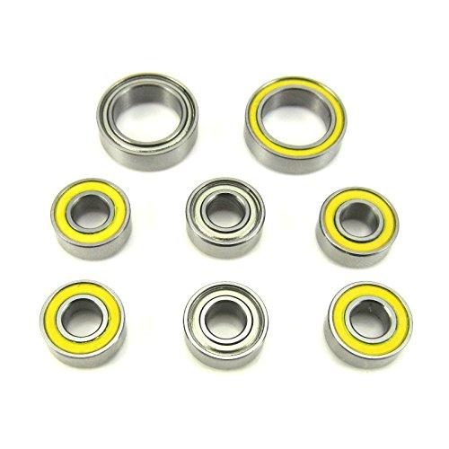 Si3n4 Ceramic Abec 7 Bearings (Traxxas 4x4 Slash Hybrid Ceramic Wheel Hub Bearings 5x11x4mm-10x15x4mm)