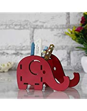 Webelkart Cute Elephant Decorative Pen Stand for Gift Office Desk Kids Study Table (6.25 IN x 3.25 IN x 4.00 IN, Multicolor)
