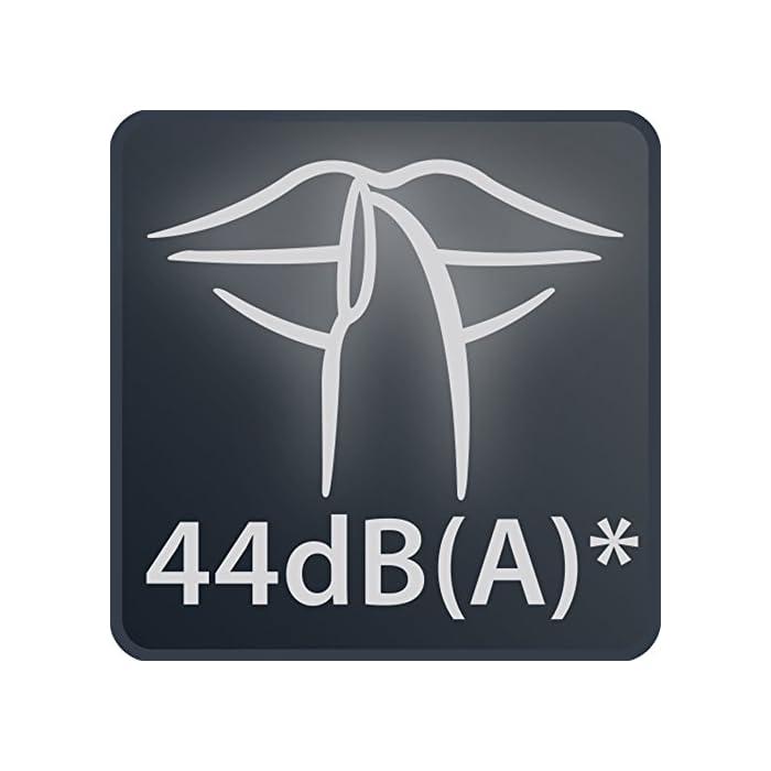 41MGnm%2BlIEL Calefactor de aire caliente con dos posiciones y potencia regulable: 1.000 W silence y 2.000 W potencia máxima Función silence: reducción del nivel de ruido (sólo 44 dba en la posición silenciosa a 1.000 w) Función ventilador de aire frío ya que está diseñado para su uso durante todo el año