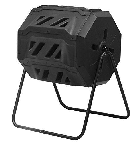 Good Ideas CW-ECOT Compost Wizard Eco Tumbler Composter, Black