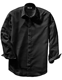 Men's Big and Tall Adjustable Cuff Cafe Shirt