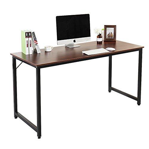Soges 55'' Computer Desk Office Desk Writing Desk Workstation Desk Computer Table Gaming Table, Walnut JJ-WA-140 by soges