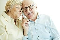 Emerson EM300WH Big Button Phone for Elderly Seniors, Corded Phone with Speakerphone, Landline Phone