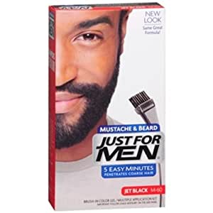 Amazon.com : Just For Men Brush-In Color Gel Jet Black M-60 ...