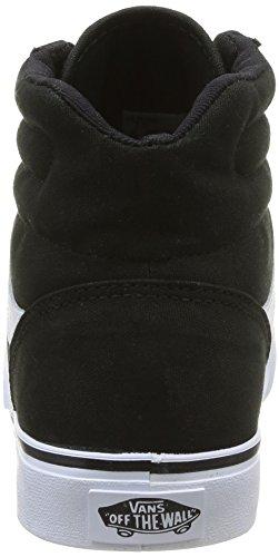 VANS basse ginnastica canvas unisex donna Black bianco sneakers Milton HI scarpe da 6wHqf46r