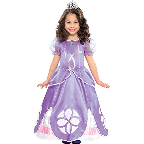 Amscan Sofia the First Halloween Costume for Girls, 3-4T, with Included -