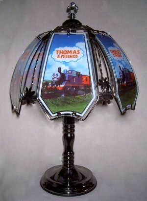Thomas the Train Black Chrome Touch Lamp - Table Lamps - Amazon.com