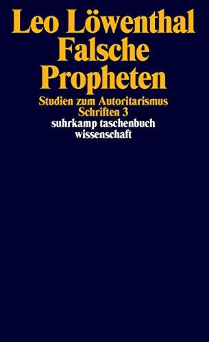 Schriften. 5 Bände: Band 3: Falsche Propheten (suhrkamp taschenbuch wissenschaft)