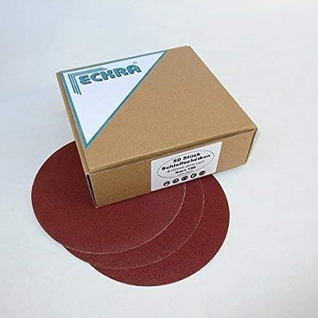 50 ECKRA® Schleifscheiben Klett Ø150 P150 9 Loch Schleifpapier Excenterscheiben