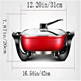 NBZLY Non-Stick Electric Frying Pan, Adjustable