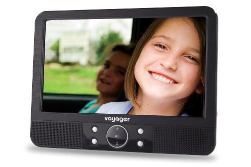 Voyager Tragbarer DVD-Player (22,8 cm (9 Zoll) LCD-Display) inkl. Auto-Holmhalterung und Zubehör schwarz
