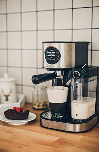 MPM MKW-07M Cafetera Express 15 Bares, para Café Espresso, Cappuccino y Latte, Depósito Calienta-leche 0,7 litros…