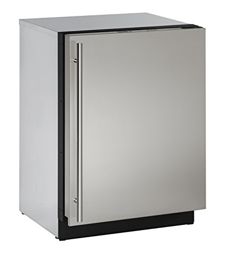 U-Line U-3024RS-00A 24 Inch Solid Door Refrigerator, Stainless Steel, Right Hand Hinge (Certified Refurbished)