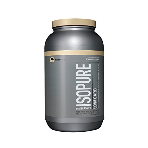 Isopure Low Carb Protein Powder, 100% Whey Protein Isolate, Flavor: Toasted Coconut, 3 Pounds (Packaging May Vary)