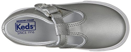 Keds Daphne T-Strap Sneaker (Toddler/Little Kid), Silver/Silver, 5.5 M US Toddler by Keds (Image #8)