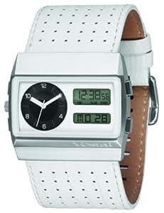 Vestal Men's MCW028 Monte Carlo White Lizard Print Leather Watch