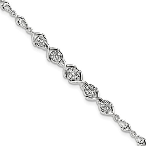 ICE CARATS 14kt White Gold Diamond Bracelet 7 Inch Fine Jewelry Ideal Gifts For Women Gift Set From (Diamond Gold Designer Bracelets)