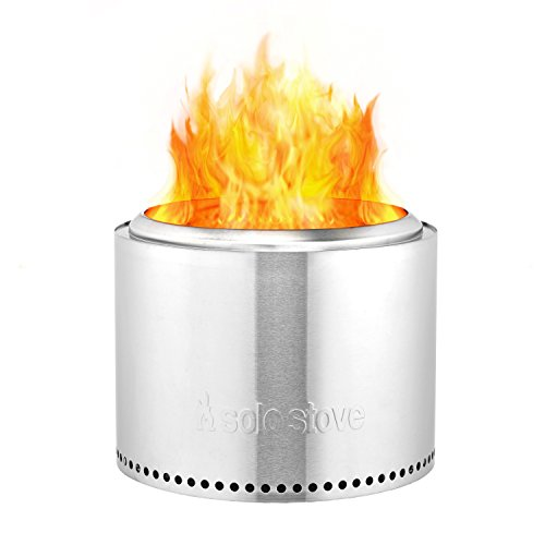 Solo Stove Bonfire - Super Efficient Backyard & Patio Fire Pit. Less Smoke So Clothes Won't Smell. Modern Stainless Steel Design. Great for Outdoor, Backyards, Pagodas, Decks, Camping, Festivals