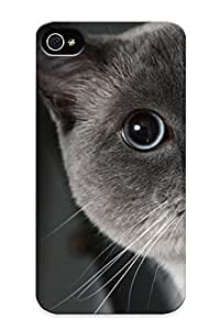 BkQVugw1003ujzAg Awesome Cats Animals Big Eyes Flip Case With Fashion Design For Iphone 4/4s As New Year's Day's Gift