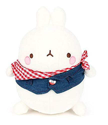 Nuri Toys Molang Blue Jean Jacket Costume Stuffed Animal Rabbit Plush Toy -